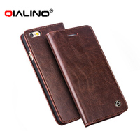 QIALINO Professional Supreme Quality Phone Case For Iphone 6 Plus Real Leather Hand-Made