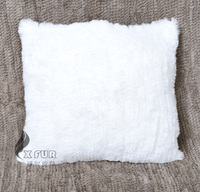 CX-D-85 50x50cm Europe Knitted Real Rabbit Fur Wholesale Cushion Covers