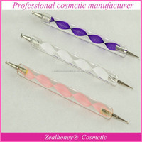 Free sample high quality 3pcs Acrylic Handle Two -side Nail Art Brush