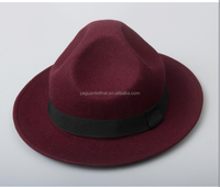 China factory wholesale men pattern woolen felt vintage Jazz hats