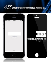 Anti Peeping /anti Spy Privacy Explosion Proof 2.5d Roud Edge Tempered Glass Screen Protector For Iphone 5