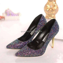Elastic backing Glitter fabric for ladies shoes and handbags usage ,with multi spandex backing