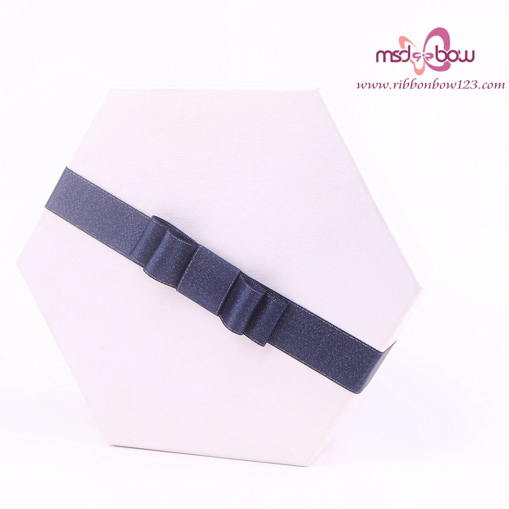 pre-made gift elastic satin ribbon bow