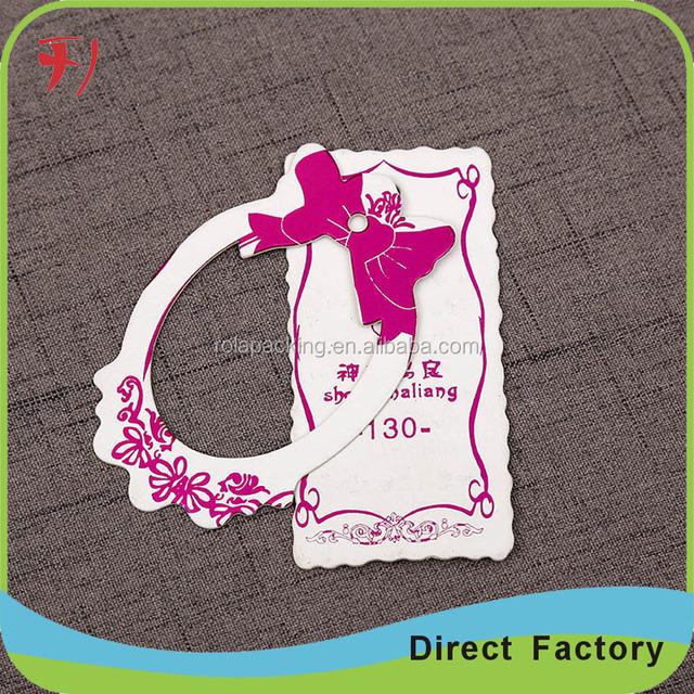 Top custom black paper hanging fragrance car perfume card