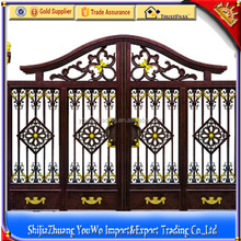 China Manufacture Cast Iron Gate Design/ Iron Fancy Gates for Homes