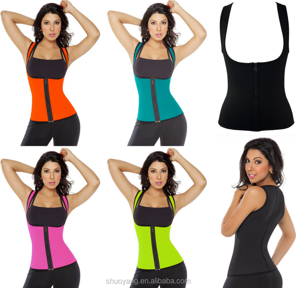 Wholesale ultra sweat sport zipper body men and women corset