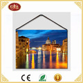 Factory Price Romantic Venice Beautiful Senery LED light Canvas Prints for Living Room Decor