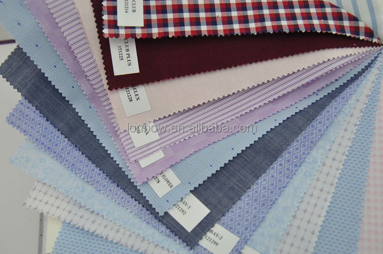 pima cotton fabric for men's shirting stretch fabric yarn dyded organic cotton fabric