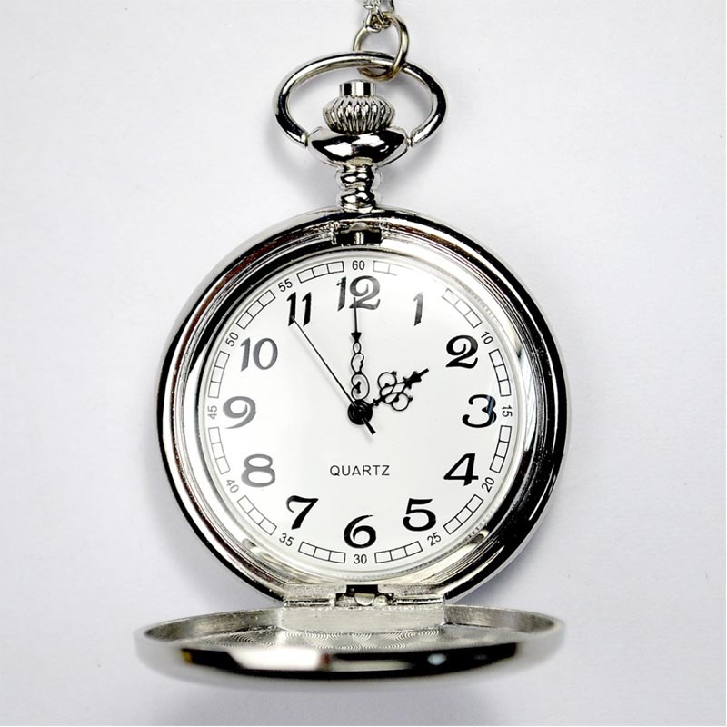 fashion hot sell alloy mechanical pocket watch