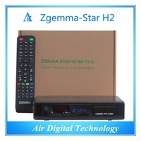 digital terrestrial tv receiver set top box zgemma-star h2 with DVB-S2 + hybrid DVB-T2/C Linux HD combo satellite receiver