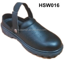 CY,air holes soft leather oil resistant PU injection sole chef shoes for kitchen cooking