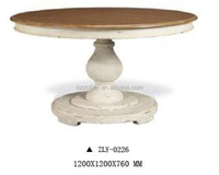 Royal Wood White Color Mobile Dining Table Home Furniture