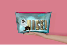 2016 new fashion hot sale Shiny pvc cosmetic bag with funny printing for promotional gift