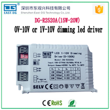R2520A 0-10v /1-10v dimming edge led driver 15w20w constant current dimmable led driver 20w 12v PWM switch power suppply
