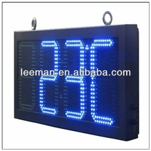 high waterproof led time and temperature display indoor advertising led tv display led timer countdown signage