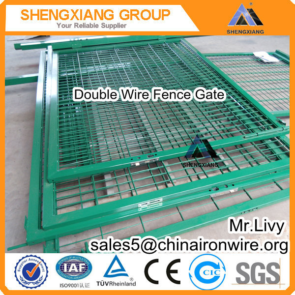 CE Certifcated High Quality European style Double Wire Fence 20 years factory