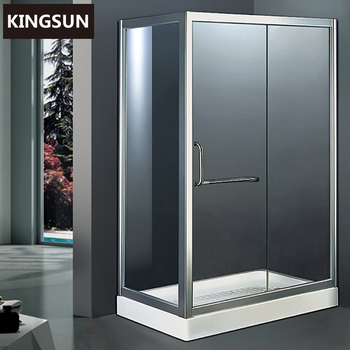 Acrylic Tray Freestanding Rectangle Glass Sliding Shower Enclosure Bathroom Shower Stalls K-7503