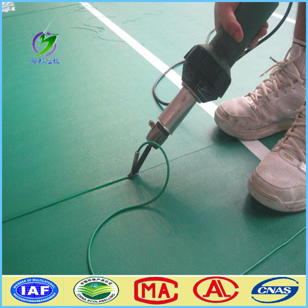Excellent rebound pvc flooring for sports, Badminton/Basketball/tennis