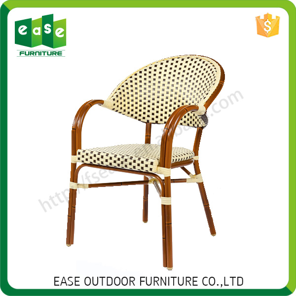 Professional high quality home furniture wicker stackable chair