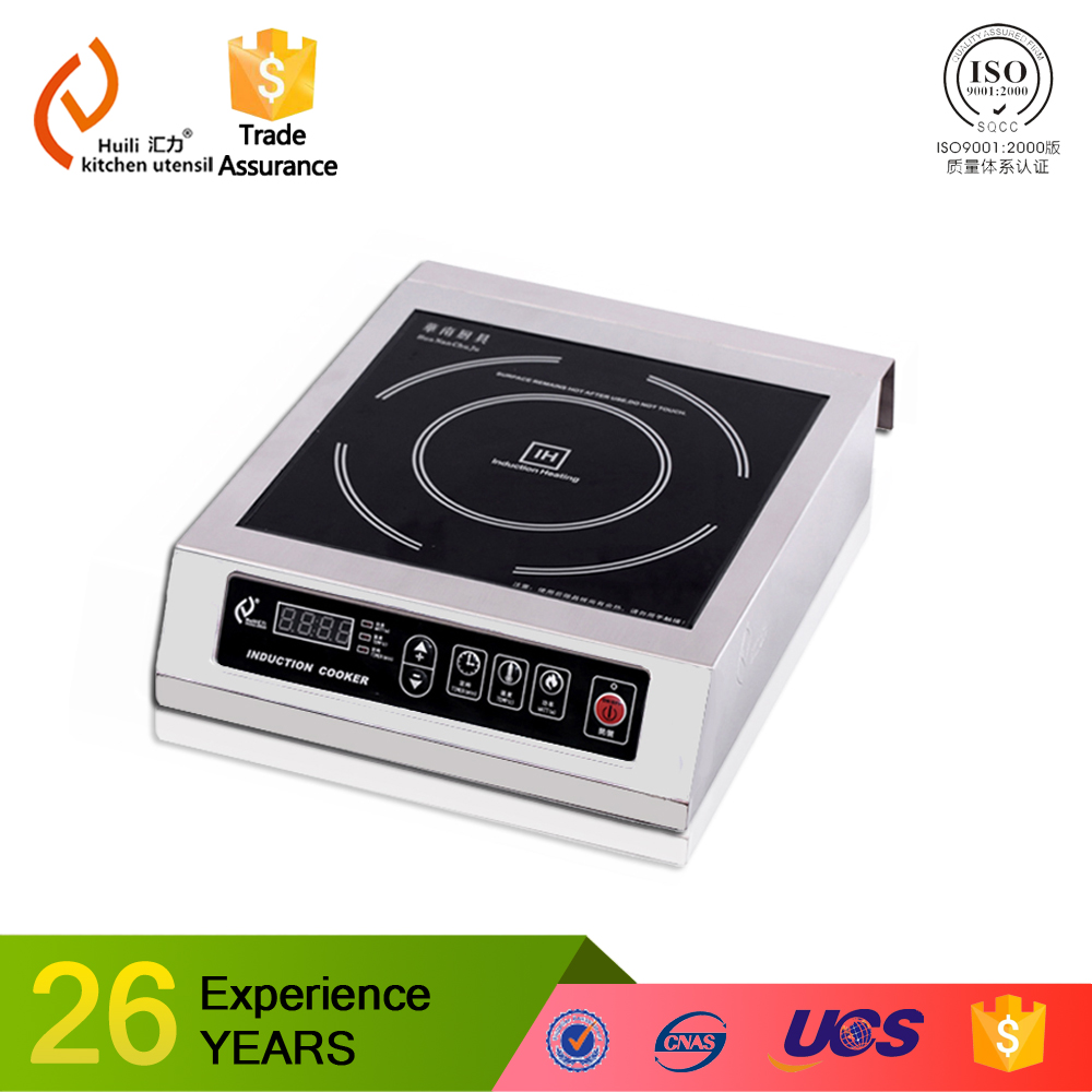 2016 new design and hot sale Energy Saving 304 stainless steel commercial induction cooker for restautant kitchen use