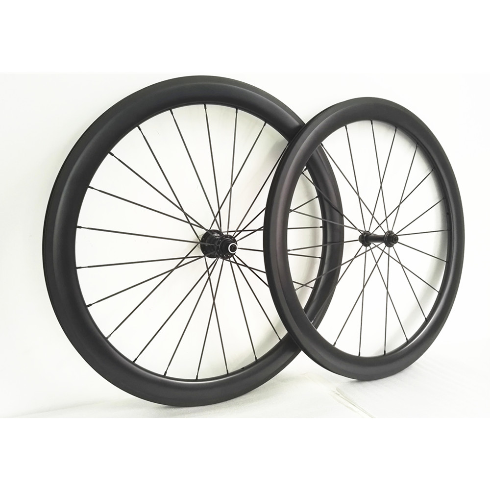 Winow Ultra Light 700C 50mm Clincher Carbon Wheels Clincher Tubular full carbon Bicycle Wheelset racing bike carbon fiber wheels