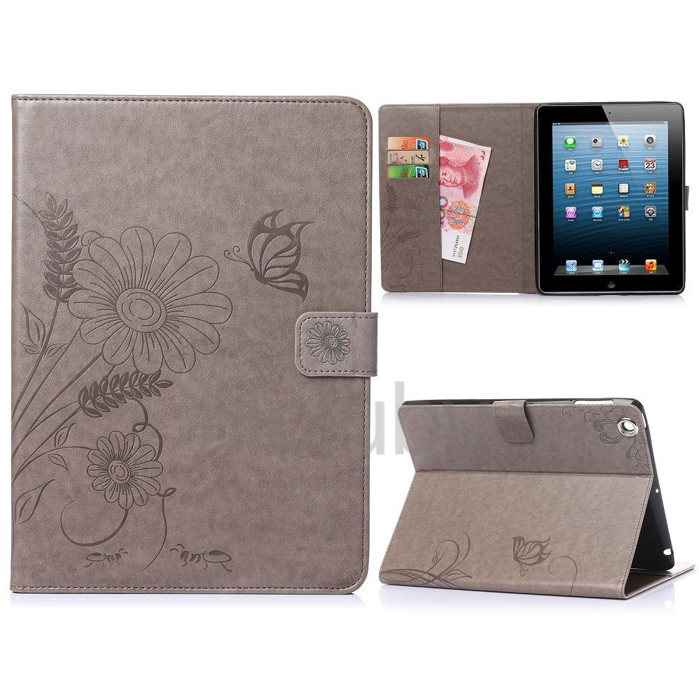 Online Wholesales Wallet Style Flip Stand PU Leather Case for iPad 2/ iPad 3/ iPad 4 NO MOQ PayPal Accept