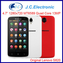 Original Lenovo S820 MTK6589 Quad Core 1.2 GHz Smartphone 4.7 inch IPS 1280x720 Back 13.0MP Camera Dual Sim Bluetooth GPS