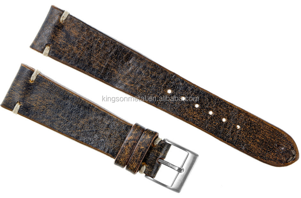Best selling top grade rare real italian calf leather watch straps 18mm 20nm 22mm