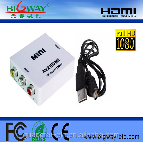 2017 hot sell Mini <strong>1080P</strong> VGA to HDMI Converter Box ,VGA2HDMI Converter,VGA Input HDMI Output Converter
