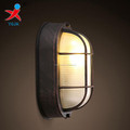 stripe oval 60w glass lamp shade