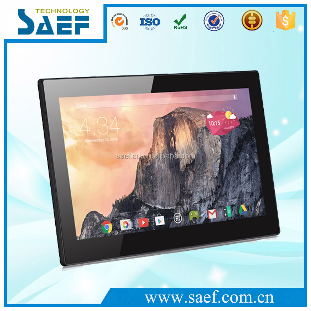 OEM 13.3 inch wall mounted android 4.4/5.1 tablet with RK3188 Quad core processor lcd advertising display