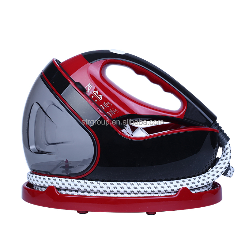 Professional household electric clothes steam iron big water tank with powerful steaming capacity