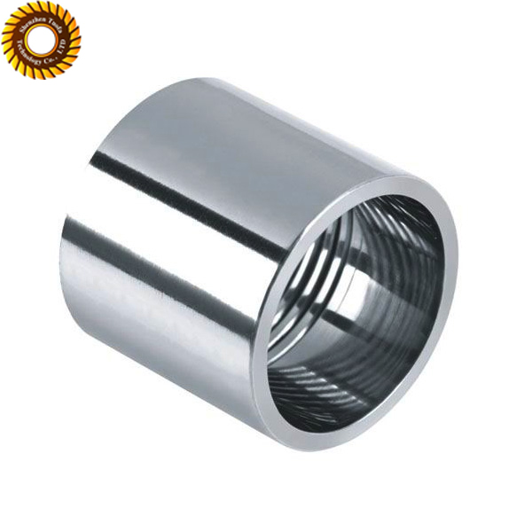 Customized stainless steel female internal threaded tubes/bearing housing