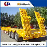 2015 China manufacturer 3 axles 60 tons Low bed semi trailer