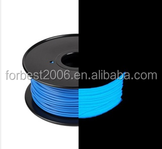 1.75mm Glow in Dark Blue PLA Filament