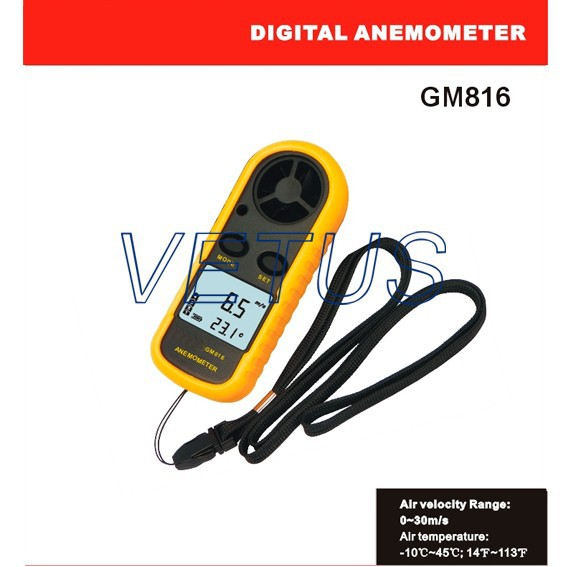 High precision hot selling handheld GM816 wind meter