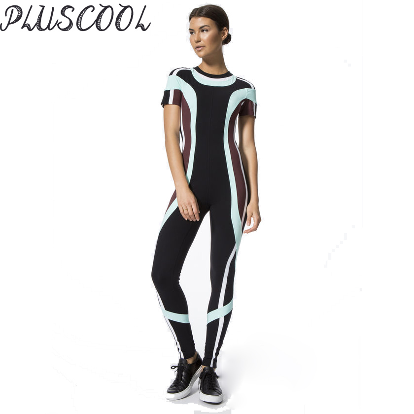 Wholesale high quality sublimation women one piece fitness jumpsuit