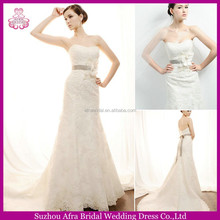 SD1603 elegant lace wedding dresses fit and flare wedding dress champagne colour