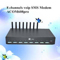 goip 8 bulk gsm modem sms gateway voip mini devices with AT command