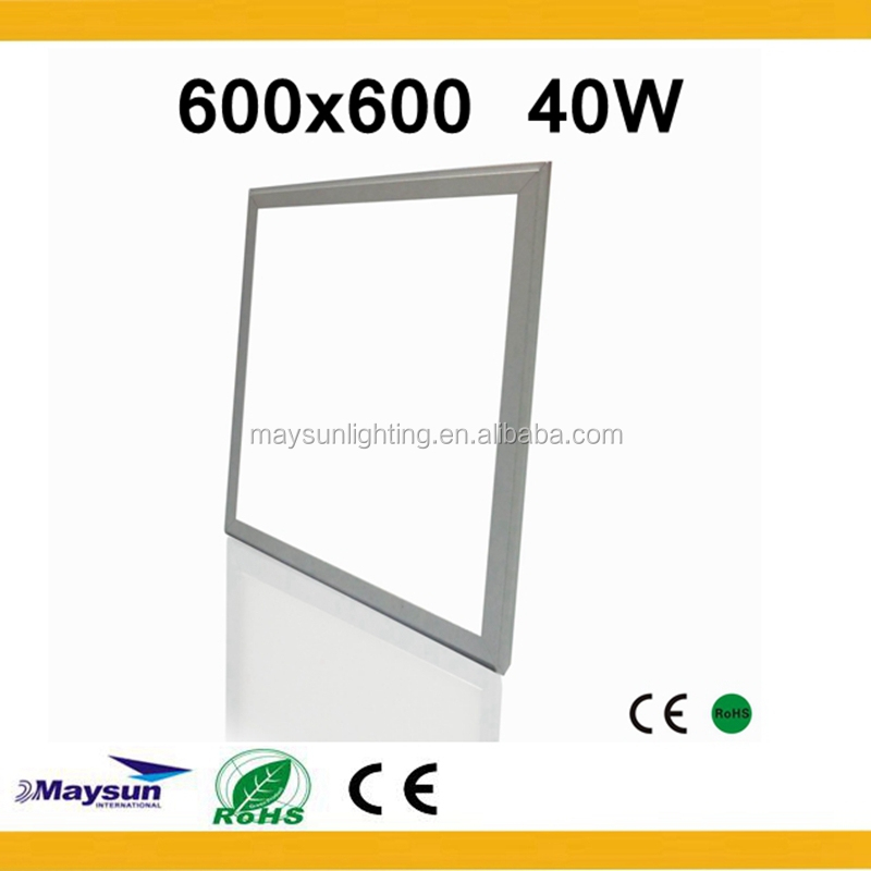 Zhongshan factory led panel 60x60 cm led ceiling lamp with CE RoHs Residential 40w led panel light