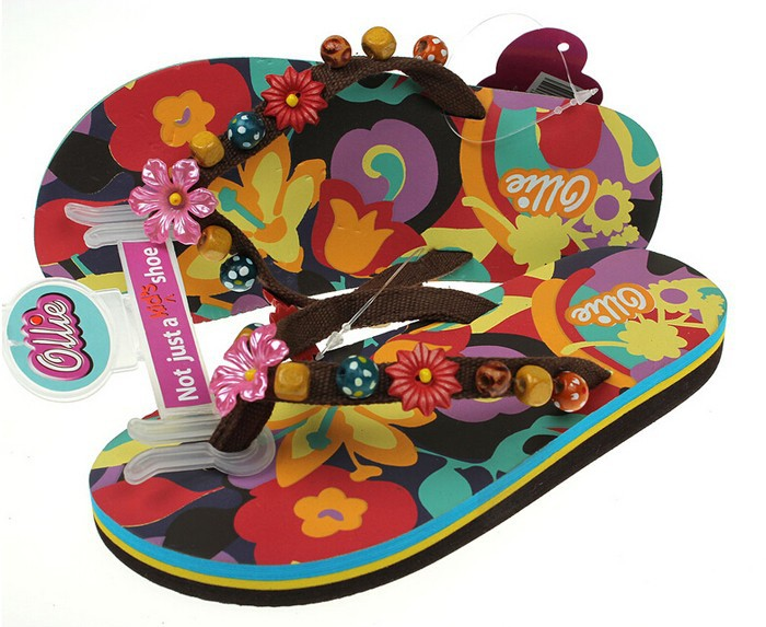 2016 summer slide sandals nude beach gem flip flops for kids