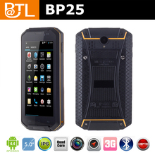 IP67 Quad Core Android 4.4 3G Walkie-Talkie GPS waterproof NFC phone,BATL BP25 rugged waterproof outdoors mobile phone