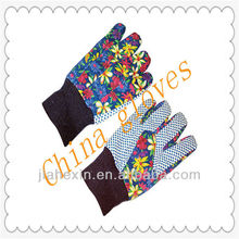 dotted cotton gloves&pvc dotted gloves are easy to wear and adjust tightness