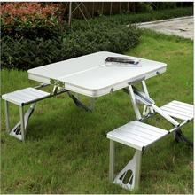 Foldable table new design Aluminum Folding Camping Picnic Table With 4 Seats