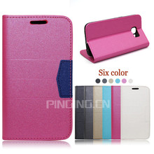 Guangzhou Pinjun scrub flip leather cover mobile phone case for K-Touch w619 , wallet case for K-Touch w619