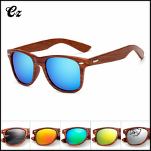 Hot selling european 2017 vintage outdoor travel women bamboo eyewear