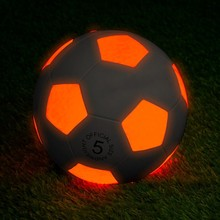 Cool rubber led football glowing in the dark