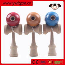 factory direct wooden toy 5 hole kendama