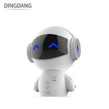 Hot selling robot bluetooth speaker support TF card aux in with 2200mah power bank function