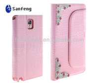 Luxury Crystal Leather Wallet Case for Samsung Galaxy Note 3 N9000 N9002 N9005